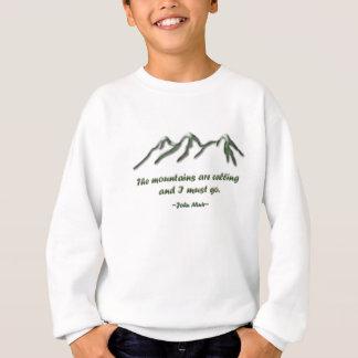 Las montañas son llamada/los mtns inclinados nieve sudadera