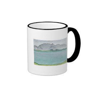 Las montañas y el lago Thun, 1911 de Stockhorn Taza De Dos Colores