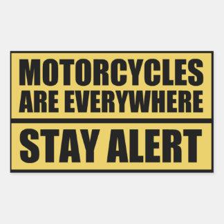 Las motocicletas están por todas partes los pegatina rectangular