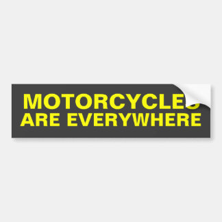 Las motocicletas están por todas partes pegatina p pegatina para auto