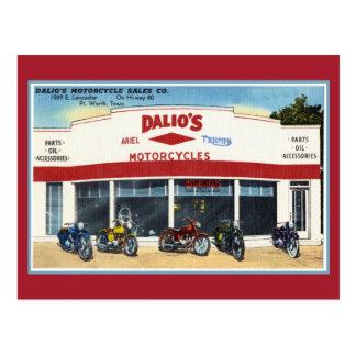 Las motocicletas Fort Worth de Dalio del vintage Postales
