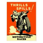 Las motocicletas retras del vintage compiten con d postales