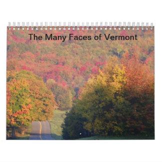 Las muchas caras de Vermont Calendarios De Pared