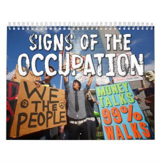 Las muestras del empleo protestan el calendario