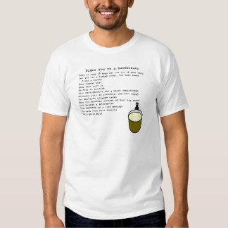 Las muestras usted es un homebrewer camisas