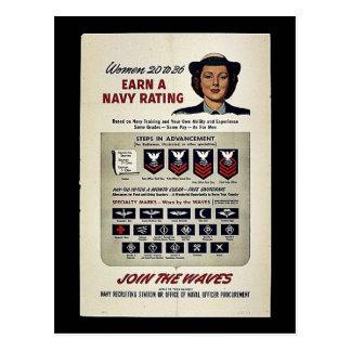 Las mujeres 20 a 36 ganan un grado de la marina de postales