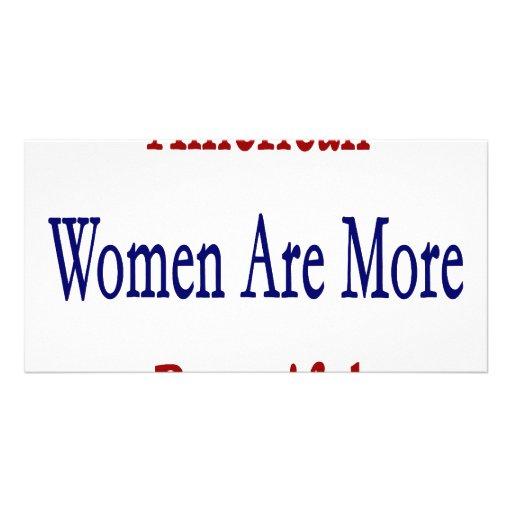 Las mujeres americanas son más hermosas tarjetas fotográficas