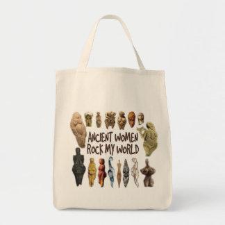Las mujeres antiguas oscilan mi tote del ultramari bolsas