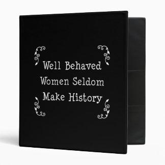 Las mujeres bien comportadas hacen raramente histo