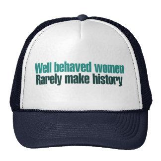 Las mujeres bien comportadas hacen raramente histo gorra