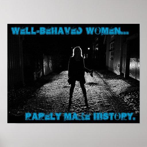 las mujeres bien comportadas hacen raramente histo poster