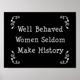 Las mujeres bien comportadas hacen raramente histo póster