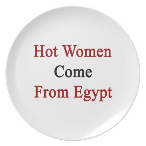 Las mujeres calientes vienen de Egipto Platos De Comidas