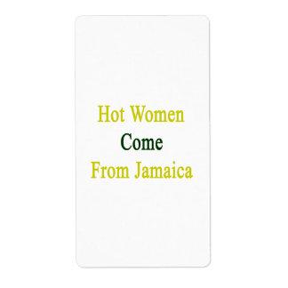 Las mujeres calientes vienen de Jamaica Etiqueta De Envío