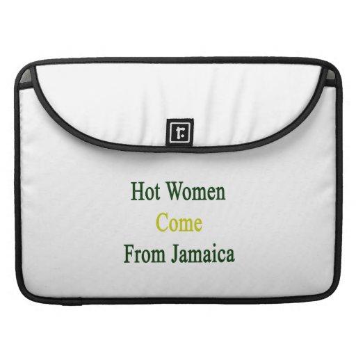 Las mujeres calientes vienen de Jamaica Fundas Para Macbooks