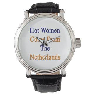 Las mujeres calientes vienen de los Países Bajos Relojes De Pulsera