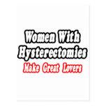 Las mujeres con histerectomias hacen a grandes ama tarjeta postal