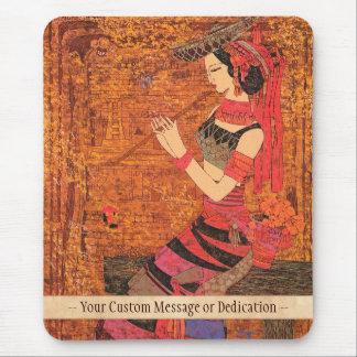 Las mujeres con la cintura florecen el arte de Che Mouse Pad