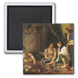 Las mujeres de Argel en su apartamento, 1834 Imán Cuadrado
