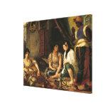 Las mujeres de Argel en su apartamento, 1834 Impresión En Lienzo Estirada