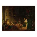 Las mujeres de Argel en su Harem, 1847-49 Postal