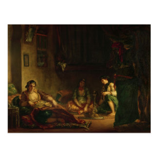 Las mujeres de Argel en su Harem 1847-49 Postal