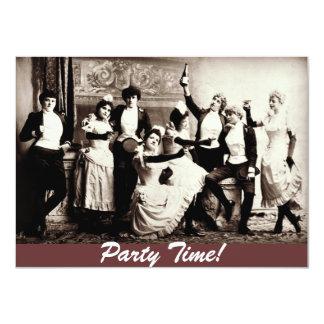 Las mujeres de la antigüedad del tiempo del fiesta invitación 11,4 x 15,8 cm