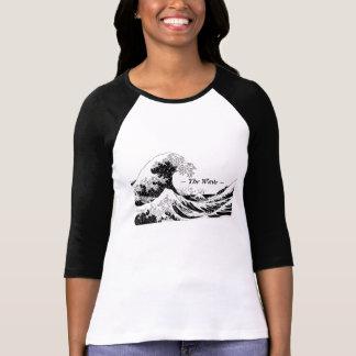 """Las mujeres """"de la colección de la onda"""" superiore tshirts"""