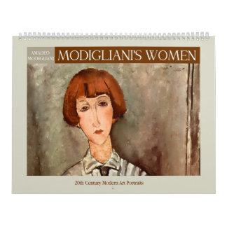 Las mujeres de Modigliani Calendarios De Pared
