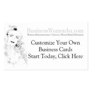 Las mujeres de negocios modificaron tarjetas de vi plantillas de tarjetas personales
