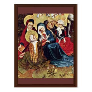 Las mujeres en la cruz de Meister Francke (el mejo Tarjeta Postal