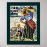 Las mujeres entran el poster del ruso de las coope