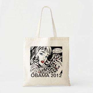 Las mujeres están votando por Barack Obama Totebag Bolsa Tela Barata
