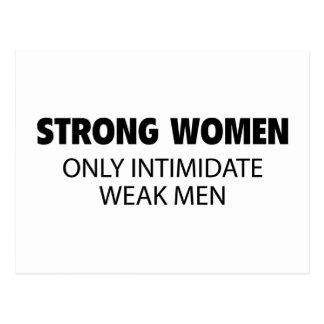 Las mujeres fuertes intimidan solamente a hombres  tarjeta postal