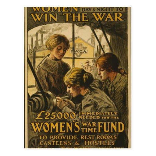 Las mujeres ganan la postal de la guerra