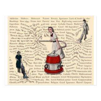 Las mujeres gobiernan el mundo tarjeta postal