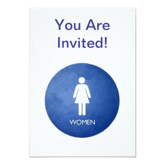 ¡Las mujeres, le invitan! Invitación 12,7 X 17,8 Cm