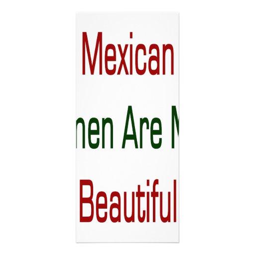 Las mujeres mexicanas son más hermosas tarjeta publicitaria