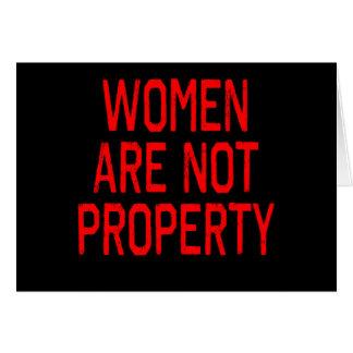 Las mujeres no son propiedad tarjeta de felicitación