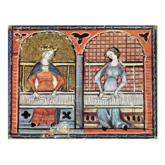 Las mujeres, Ovide Moralise escrito por Chretien Tarjetas Postales