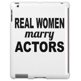 Las mujeres reales casan a actores funda para iPad