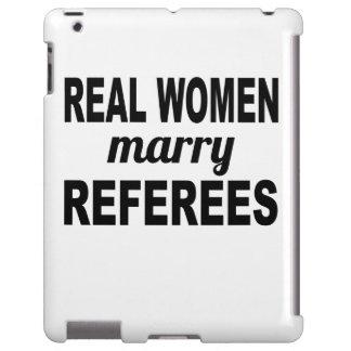 Las mujeres reales casan a árbitros funda para iPad
