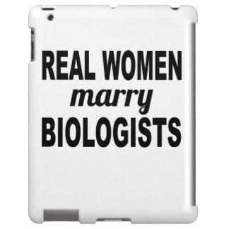 Las mujeres reales casan a biólogos funda para iPad