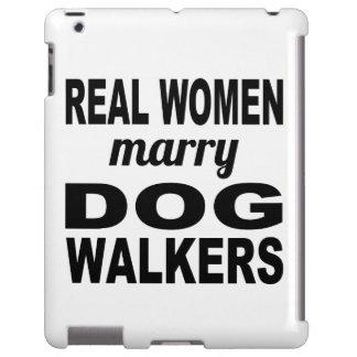 Las mujeres reales casan a caminante del perro funda para iPad