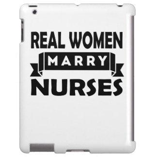 Las mujeres reales casan a enfermeras funda para iPad