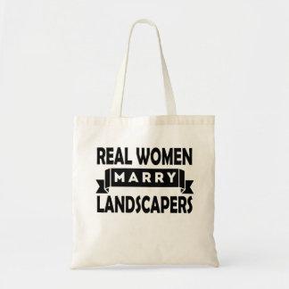 Las mujeres reales casan a paisajistas bolsa tela barata