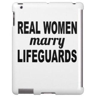 Las mujeres reales casan a salvavidas funda para iPad