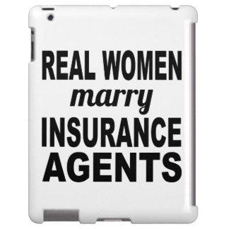 Las mujeres reales casan agentes de seguro funda para iPad