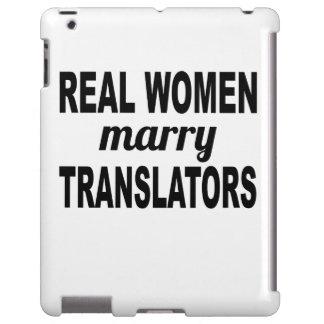 Las mujeres reales casan los traductores funda para iPad