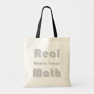 Las mujeres reales enseñan a matemáticas bolsa de mano
